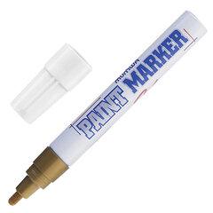 Маркер-краска лаковый (paint marker) MUNHWA, 4 мм, ЗОЛОТОЙ, нитро-основа, алюминиевый корпус, PM-07