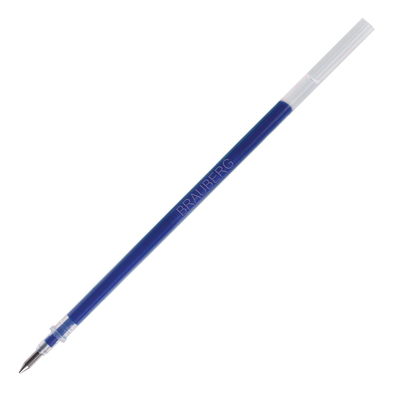 Стержень гелевый BRAUBERG 130 мм, СИНИЙ, узел 0,5 мм, линия письма 0,35 мм, 170166