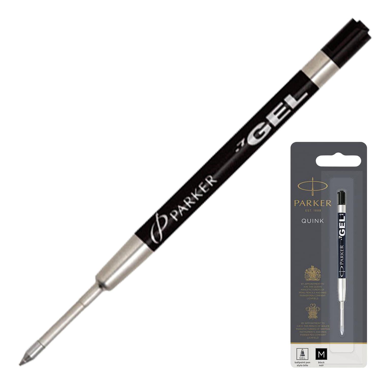 """Стержень гелевый PARKER """"Quink Gel"""", металлический, 98 мм, линия письма 0,7 мм, блистер, черный"""