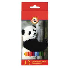 """Карандаши цветные KOH-I-NOOR """"Animals"""", 12 цветов, грифель 2,8 мм, заточенные, европодвес, 3552/12"""