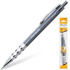 """Карандаш механический BRAUBERG """"Smart"""", корпус серый, металлический грип, ластик, 0,5 мм, 180462"""