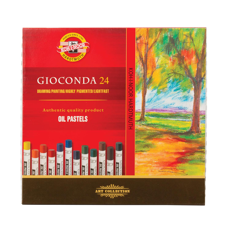 """Пастель масляная художественная KOH-I-NOOR """"Gioconda"""", 24 цвета, круглое сечение, 8354024001KS"""