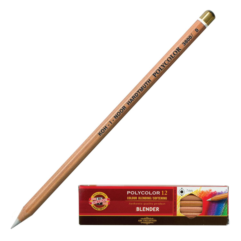 """Карандаш-блендер KOH-I-NOOR, 1шт., """"Polycolor"""", белый, 3,8 мм, мягкий, заточенный, 3800000001KS"""
