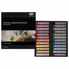 """Пастель сухая художественная ГАММА """"Старый Мастер"""", 24 цвета, базовые цвета, квадратное сечение, 2309196"""