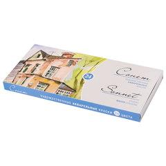 """Краски акварельные художественные """"Сонет"""", 24 цвета, кювета 2,5 мл, картонная коробка"""