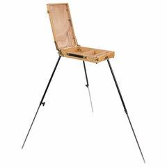 Этюдник BRAUBERG ART CLASSIC, бук, 40х25х7,5см, высота холста 70см, ножки метал 90см, ремень,190655