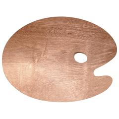 """Палитра для рисования """"Сонет"""", деревянная, овальная, 30х40 см, толщина 5 мм"""