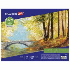 Холст на картоне BRAUBERG ART CLASSIC, 50*70см, грунтованный, 100% хлопок, мелкое зерно, 191022