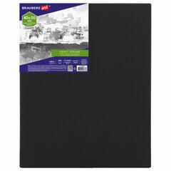 Холст на подрамнике черный BRAUBERG ART CLASSIC, 40х50см, 380 г/м, хлопок, мелкое зерно, 191651