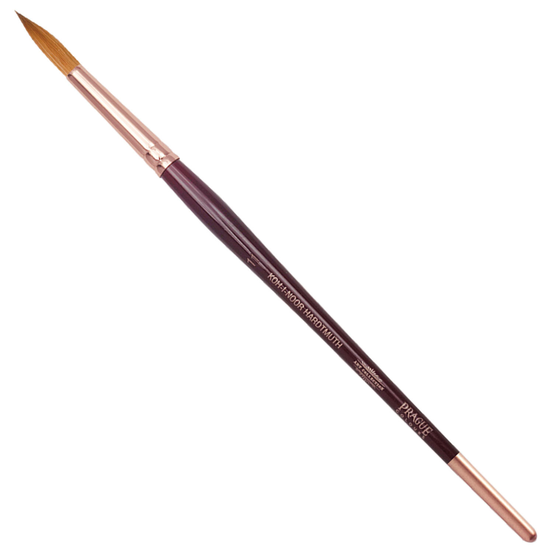 Кисть художественная KOH-I-NOOR колонок, круглая, №11, короткая ручка, блистер, 9935011010BL