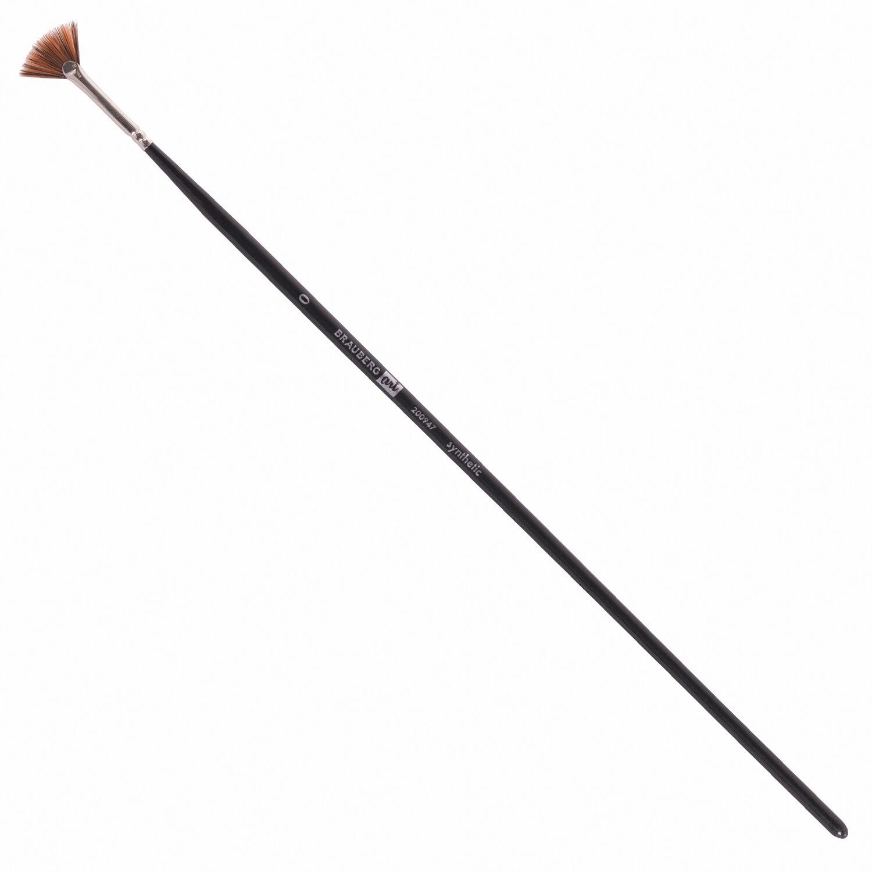 Кисть художественная профессиональная BRAUBERG ART CLASSIC, синтетика, мягкая, веерная, № 0, длинная ручка, 200947