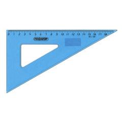 Треугольник пластиковый 30х18 см, ПИФАГОР, тонированный, прозрачный