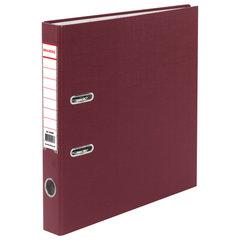 Папка-регистратор BRAUBERG с покрытием из ПВХ, 50 мм, бордовая (удвоенный срок службы), 220887