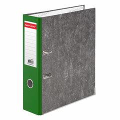 Папка-регистратор BRAUBERG, фактура стандарт, с мраморным покрытием, 75 мм, зеленый корешок, 220990