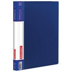 """Папка с металлическим скоросшивателем и внутренним карманом BRAUBERG """"Contract"""", синяя, до 100 л., 0,7 мм, бизнес-класс, 221782"""