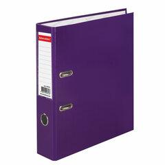 Папка-регистратор BRAUBERG, ламинированная, 75 мм, фиолетовая, 222073