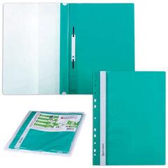 Скоросшиватели пластиковые с перфорацией BRAUBERG, комплект 10 шт., зеленые