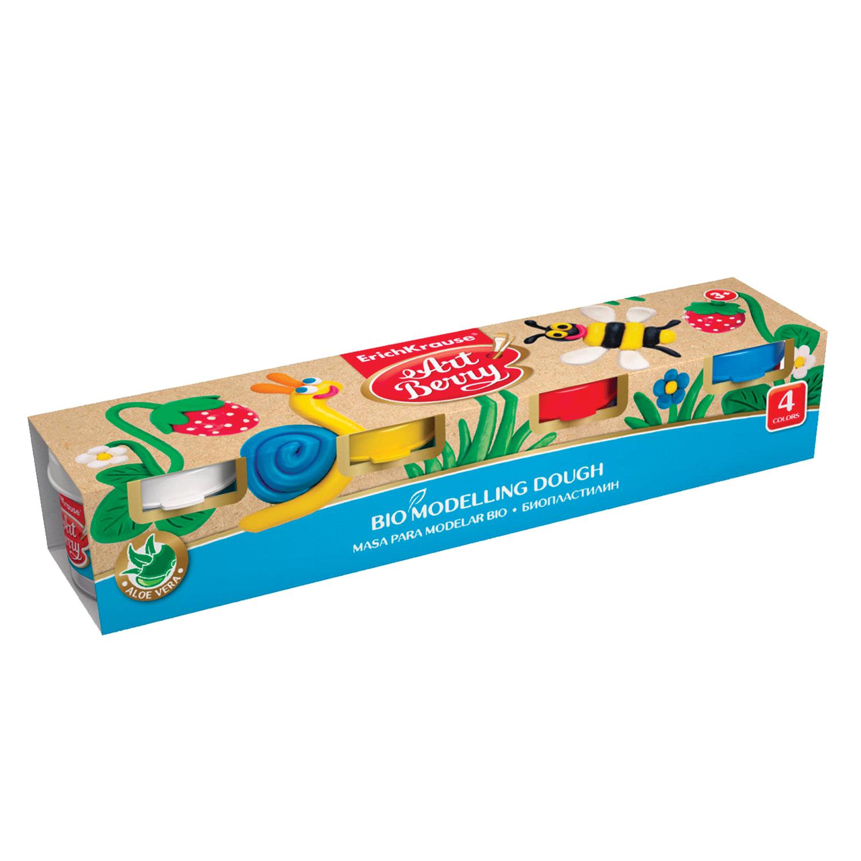 """Пластилин на растительной основе (тесто для лепки) ERICH KRAUSE """"Artberry"""", 4 цвета, 140 г, 41769"""
