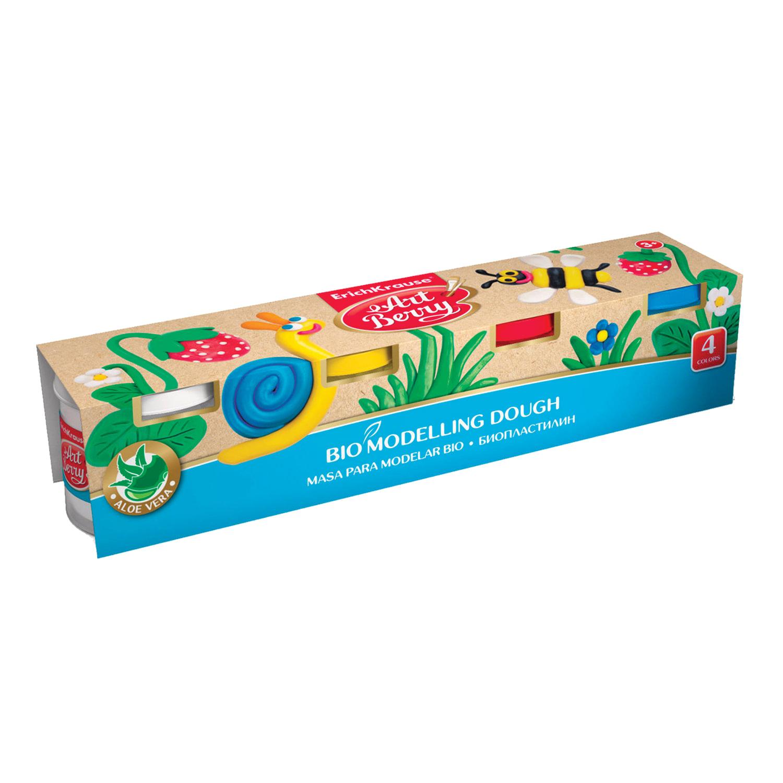 Пластилин на растительной основе (тесто для лепки) ERICH KRAUSE Artberry, 4 цвета, 400 г, 41773