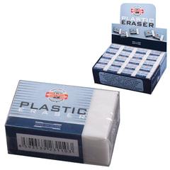 Ластик KOH-I-NOOR 4770/80, 30х18х12 мм, белый, прямоугольный, картонный держатель, 4770080002KD