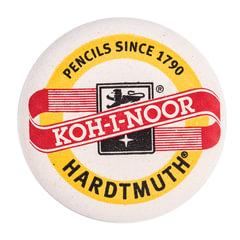 Ластик KOH-I-NOOR 6240, 41х41х10 мм, белый, круглый, натуральный каучук, 6240041001KK