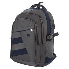 "Рюкзак BRAUBERG ""MainStream 2"", 35 л, размер 45х32х19 см, ткань, серо-синий, 224446"