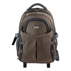 "Рюкзак для школы и офиса BRAUBERG ""Jax 1"", 30 л, размер 43х33х23 см, ткань, на колесах, черно-коричневый"