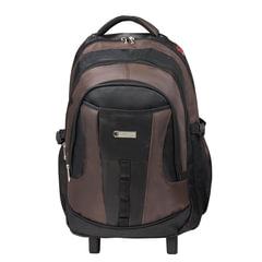 "Рюкзак для школы и офиса BRAUBERG ""Jax 2"", 35 л, размер 54х37х23 см, ткань, на колесах, черно-коричневый"