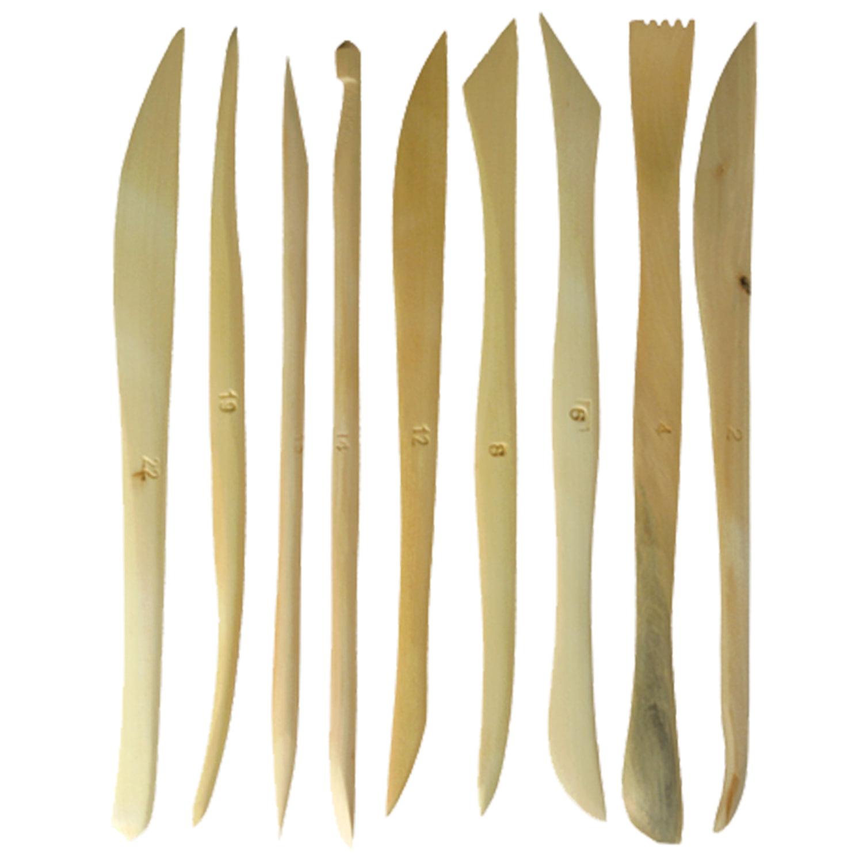 """Стеки для лепки """"Сонет"""", набор 9 шт., дерево, длина 15 см, DK11141"""