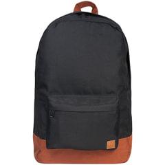 """Рюкзак BRAUBERG, универсальный, сити-формат, черный, """"с коричневым дном"""", 18 литров, 33х26х10 см"""