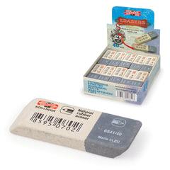 Ластик KOH-I-NOOR 6541/40, 57x19,5x8 мм, бело-серый, прямоугольный, скошенные края, натуральный каучук, 6541040007KDRU