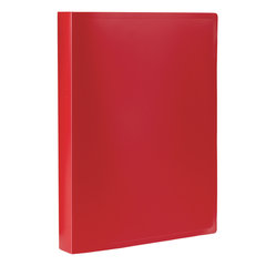 Папка 100 вкладышей STAFF, красная, 0,7 мм, 225714