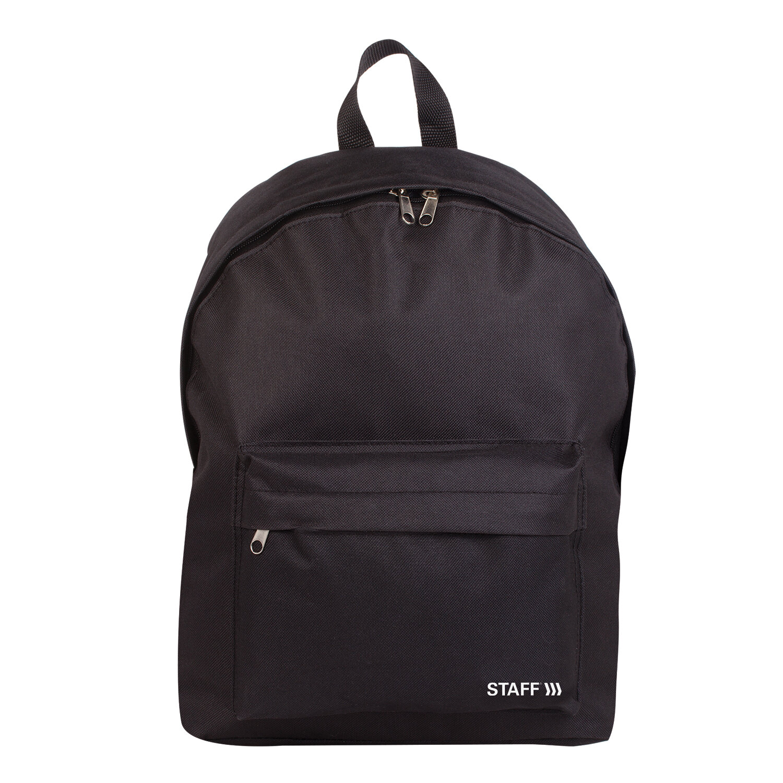 Рюкзак STAFF STREET универсальный, черный, 38x28x12 см, 226370