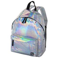 """Рюкзак BRAUBERG универсальный, сити-формат, серебро, """"Винтаж"""", 20 литров, 41х32х14 см, 226421"""