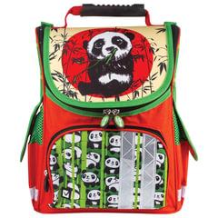 "Ранец жесткокаркасный BRAUBERG для учениц начальной школы, ""Панда"", 34х26х16 см"