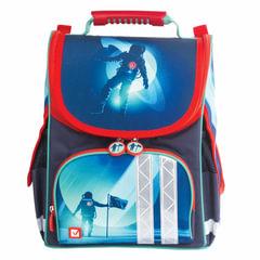 """Ранец жесткокаркасный BRAUBERG для учеников начальной школы, """"Астронавт"""", 34х26х16 см"""