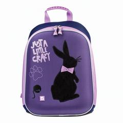 """Ранец жесткокаркасный BRAUBERG для учениц начальной школы, 1 отделение, """"Чёрный кролик"""", 34х26х12 см"""