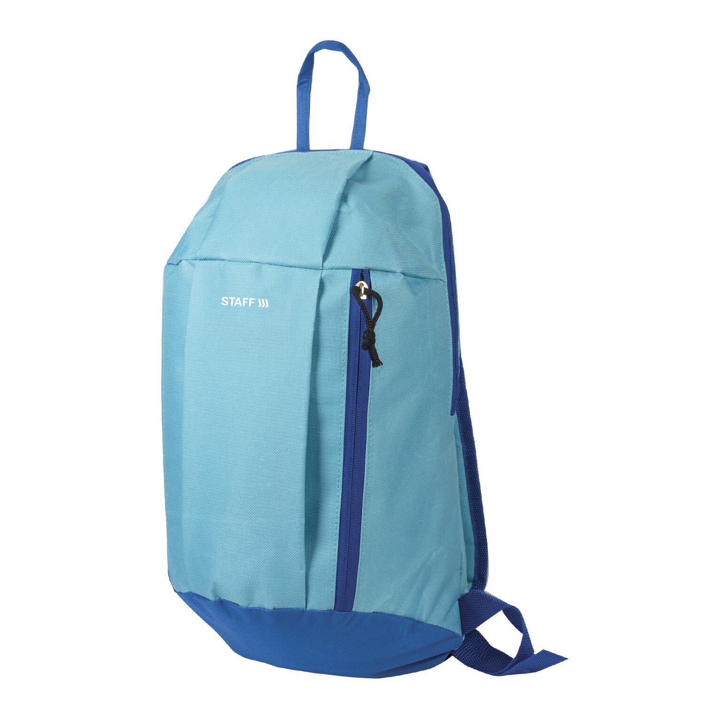 """Рюкзак STAFF """"AIR"""" компактный, голубой с синими деталями, 40х23х16 см, 227044"""