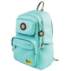 Рюкзак BRAUBERG LIGHT молодежный, с отделением для ноутбука, нагрудный ремешок, мятный, 47х31х13 см, 270298