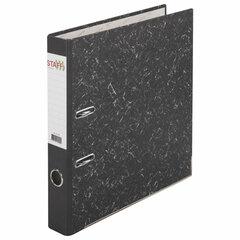 """Папка-регистратор STAFF """"EVERYDAY"""" с мраморным покрытием, 50 мм, с уголком, черный корешок, 227186"""