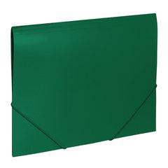 """Папка на резинках BRAUBERG """"Office"""", зеленая, до 300 листов, 500 мкм, 227710"""