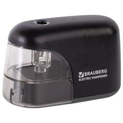 """Точилка электрическая BRAUBERG """"Black Jack"""", питание от 4 батареек АА, дополнительное сменное лезвие, 228424"""