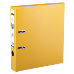 Папка-регистратор LEITZ, механизм 180°, с покрытием пластик, 80 мм, желтая