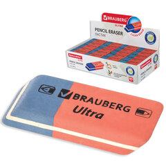 "Ластик BRAUBERG ""Ultra"", 42х14х8 мм, красно-синий, натуральный каучук, 228708"