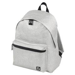 Рюкзак BRAUBERG TYVEK крафтовый с водонепроницаемым покрытием, серебристый, 34х26х11 см, 229891