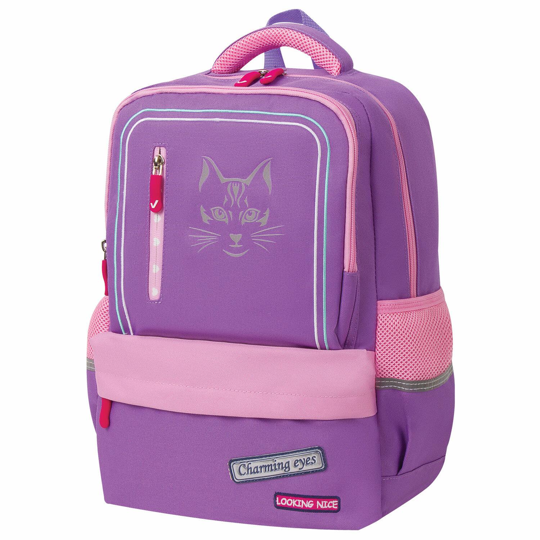 """Рюкзак BRAUBERG STAR, """"Cheshire cat"""", сиреневый, 40х29х13 см, 229976"""