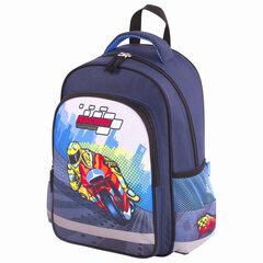 Рюкзак ПИФАГОР SCHOOL для начальной школы, Moto, 38х28х14 см, 229998
