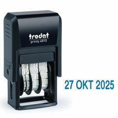 Датер-мини месяц буквами, оттиск 20х3,8 мм, синий, TRODAT 4810, корпус черный