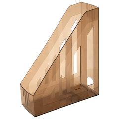 """Лоток вертикальный для бумаг BRAUBERG """"Contract"""" (260х85х300 мм), отверстия на торцах, тонированный, 230892"""