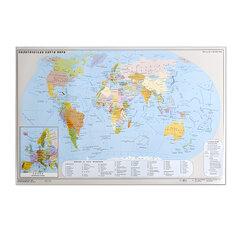 """Коврик-подкладка настольный для письма, с картой мира, 380х590 мм, """"ДПС"""""""